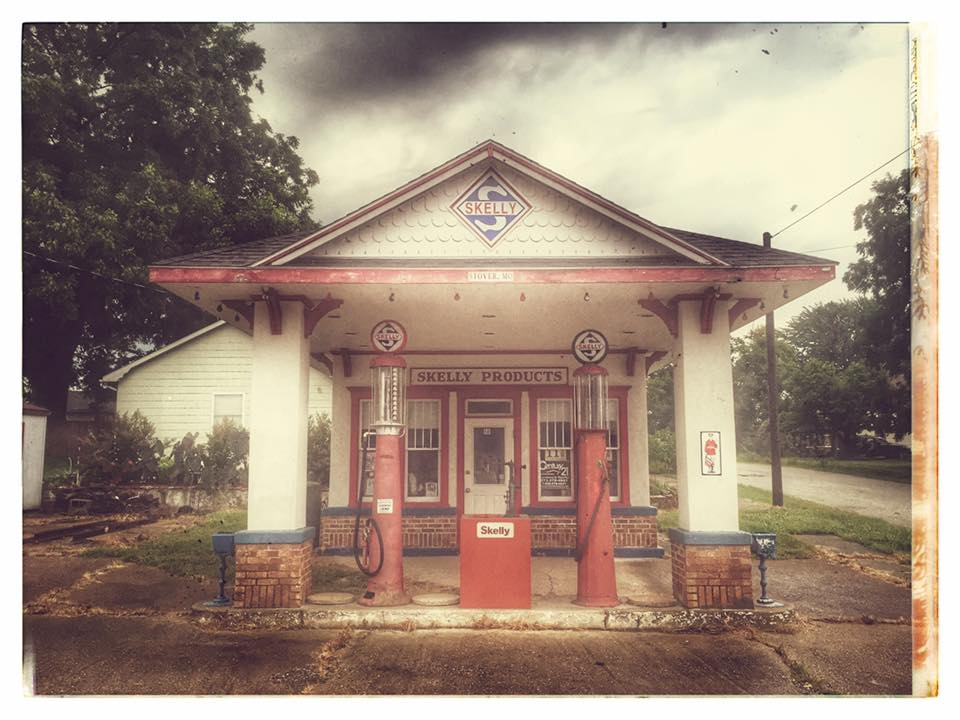 "Got to this location after dark and had to wait until morning to capture it. It's a cute little station, but it felt odd spending an entire night in a town where my cell phone indicated ""no signal"". (Stover, Missouri)"