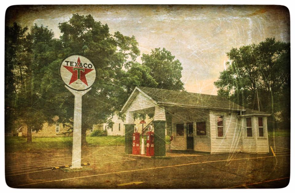 I was happy to get to this nice little Texaco station right before the rain hit. I was able to get my shot and the moment I started to drive away the rain started to fall! This is in De Soto, Missouri.