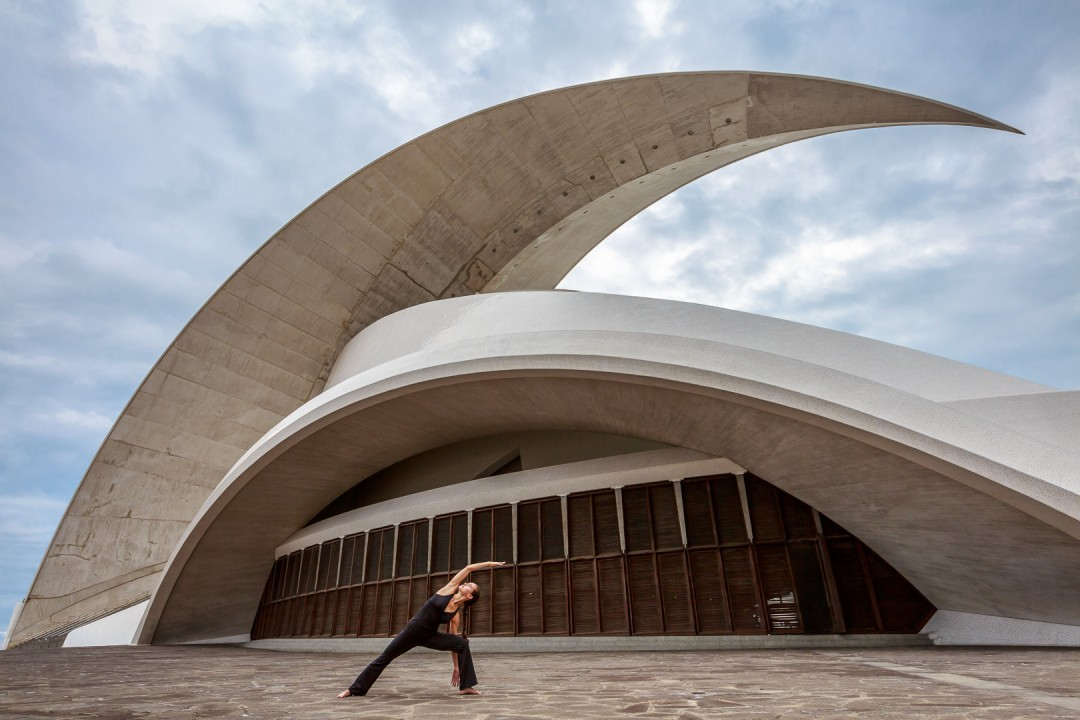 Side Angle Pose at Auditorio de Tenerife, Canary Islands
