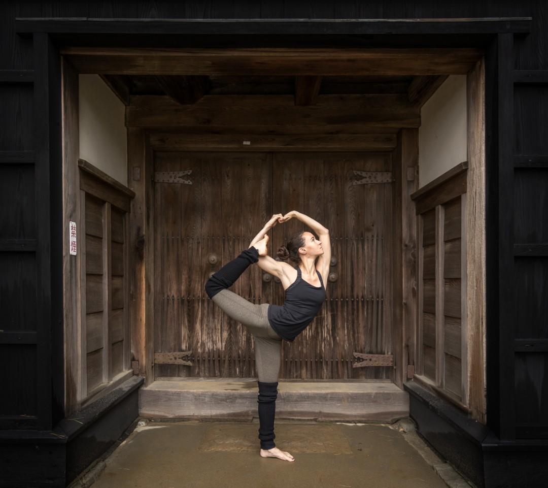 Dancer Pose at Kochi Castle, Japan