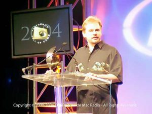 Ben accepting Photoshop Hall of Fame award in 2004.