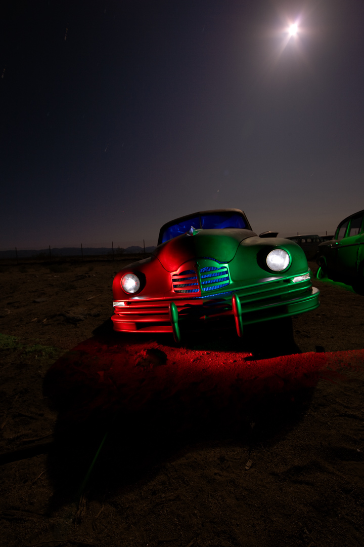 Classic Car in the Moonlight