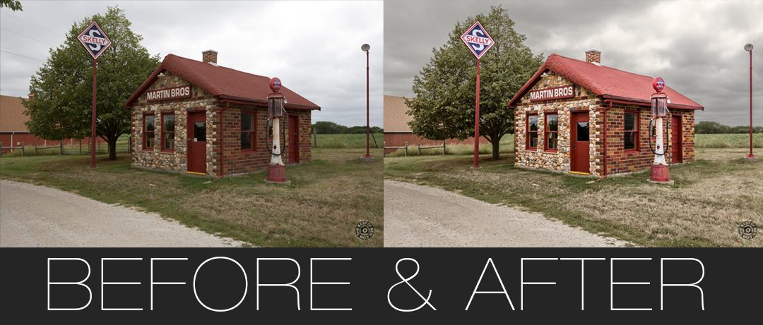 Service Station Images: Before & After